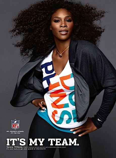 Serena Williams (Miami Dolphins limited partner and Nike professional  tennis athlete);