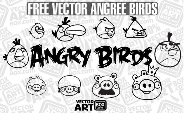 Angry Birds Sketch Vector