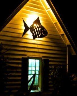 Metal fish light