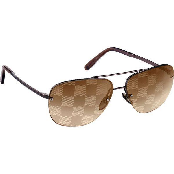 Men Louis Vuitton Sunglasses Socoa Damier Gold Z0215U