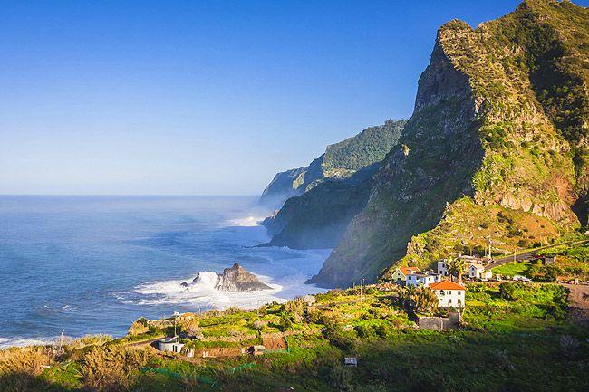 The mountains near Boaventura on Madeira