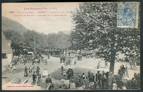 Los Pirineos. Valle de Arán. Bossost (Bosost). Entrada del Paseo. 766 Labouche - circulada 30/07/1922
