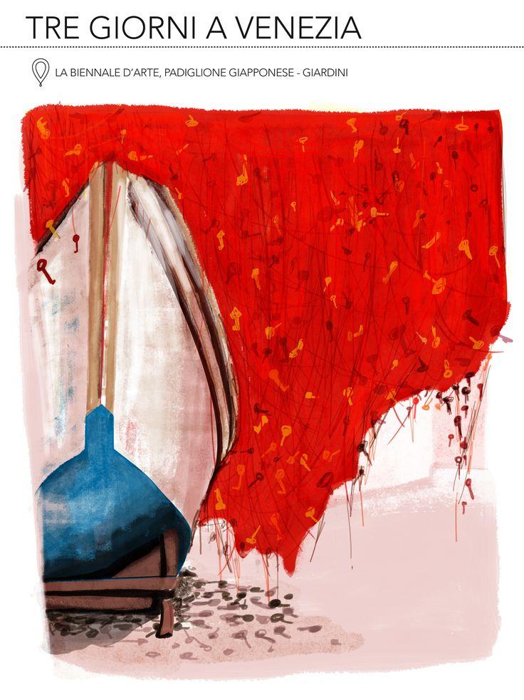 Padiglione Giapponese, Biennale d'Arte 2015, Venezia  #venice #biennalearte2015 #japan #illustration