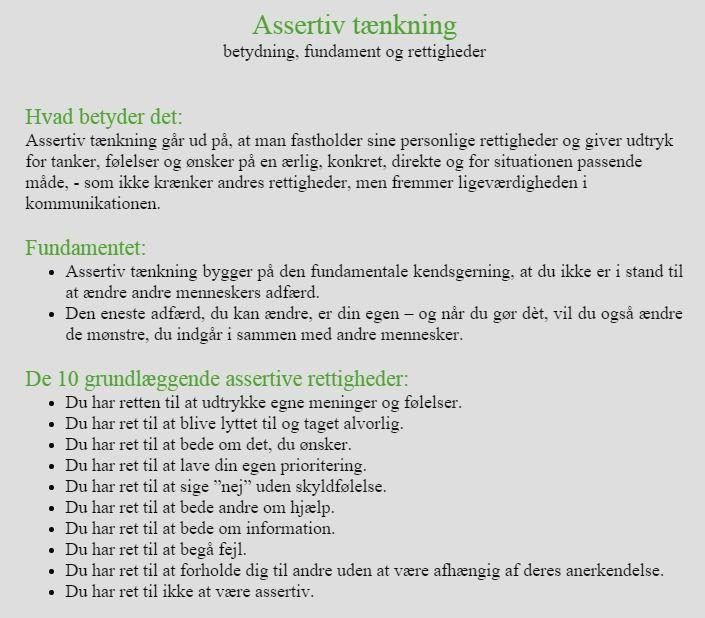 Assertiv tænkning