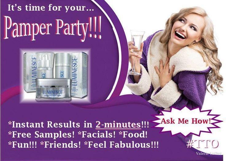 Host a Pamper Party and get rewards! vivre121@gmail.com