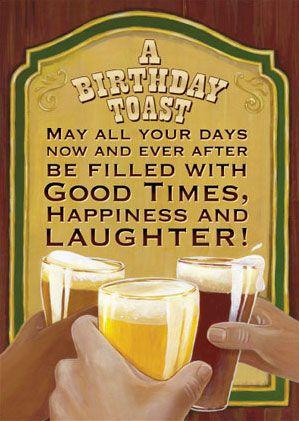 birthday beer toast - Google Search
