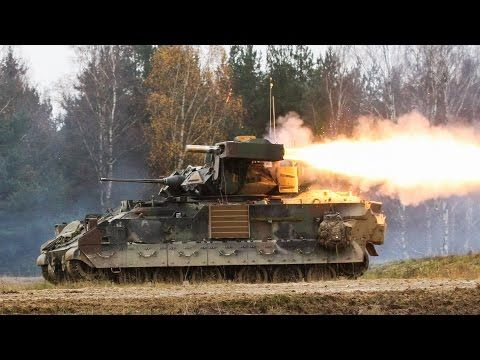 M2 BRADLEY FIGHTING VEHICLE IN ACTION • TOW MISSILES & M242 FIRING - YouTube