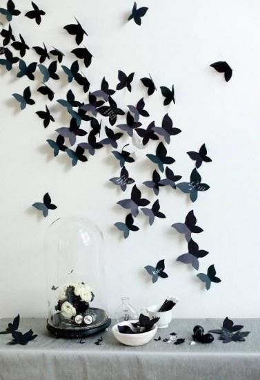 Muurdecoratie vlinders, zelf maken. Door anneja23