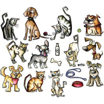 Mini+Dies+45+st+-+Crazy+Cats+&+Dogs+-+Tim+Holtz