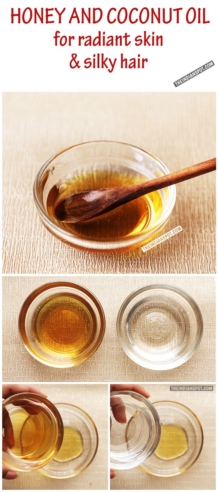 Coconut oil and honey for face and hair