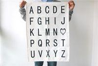 Современный скандинавский простой черный письмо ABCD домой хлопок таблица Placemat кафе бар магазин салфетки коврики стол фотография опора