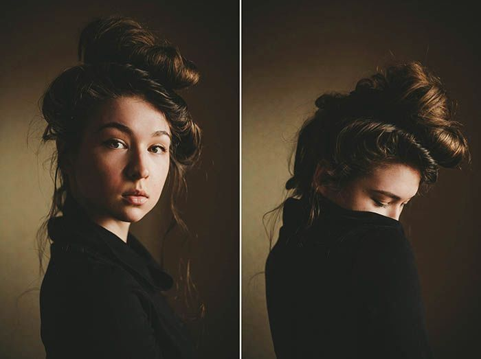 Фотосессия дома автопортрет