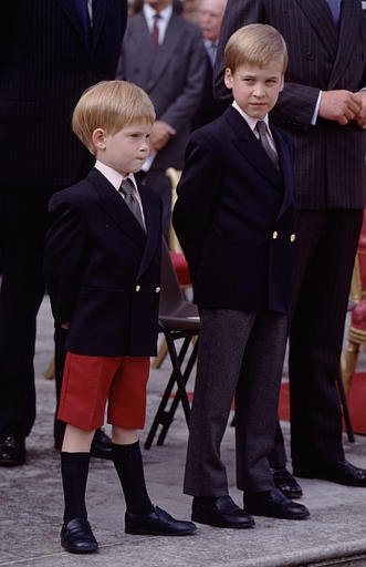 Two Princes... Prince William & Prince Harry (I just LOVE Prince Harry's RED SHORTS!!)