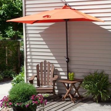 Half umbrella...perfect for small patios & balconies