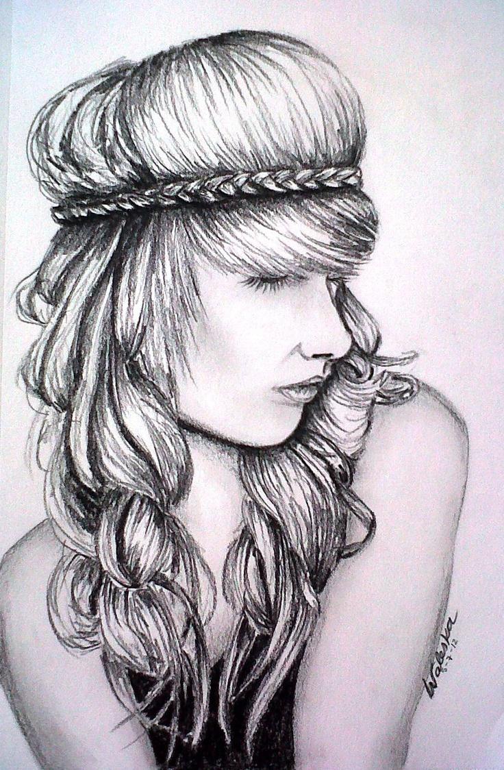 how to draw a braid i draw fashion - 736×1124