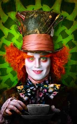 Johnny Depp from Alice in Wonderland as the Mad Hatter