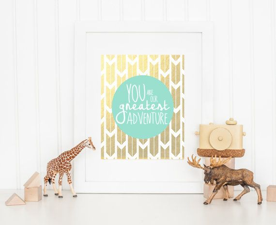 You Are Our Greatest Adventure Nursery Wall by INVITEDbyAudriana