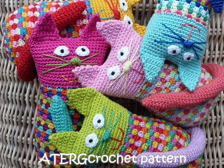 Crochet pattern cat by ATERGcrochet by ATERGcrochet on Etsy, €2.75