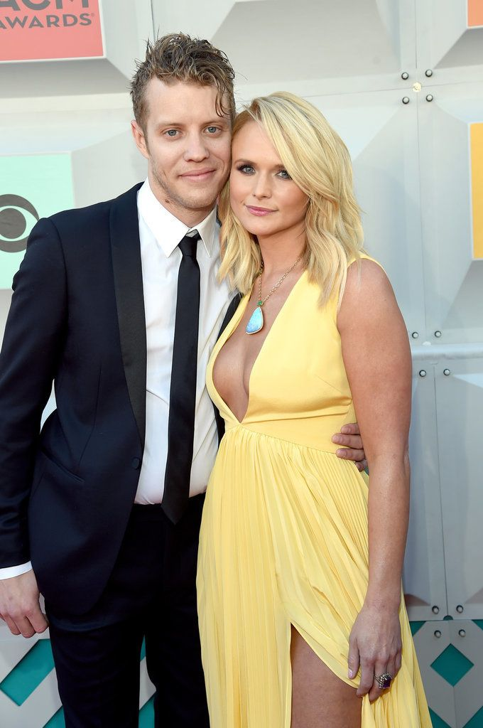 Miranda Lambert wore a gorgeous yellow dress to the Academy of Country Music Awards in Las Vegas with her new boyfriend, Anderson East