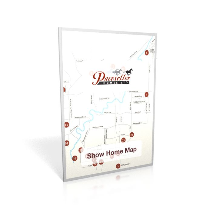 Get your free copy of our Show Home Map locations!