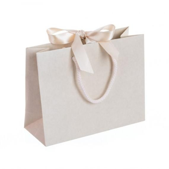 Download Small Landscape Recycled Carrier Bag With Ribbon Ties 9 Etsy Luxury Paper Bag Paper Bag Design Large Gift Bags