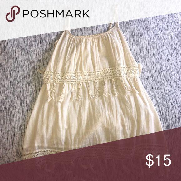 Short cream summer dress Bohemian cream summer dress Rip Curl Dresses Mini