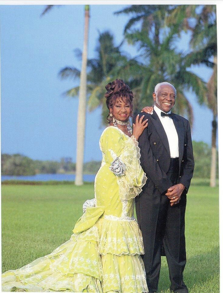 Celia Cruz y Pedro Knight-Beautiful love story. They were married for 45 years, they were always together, she died in 2003 and he died in 2007.