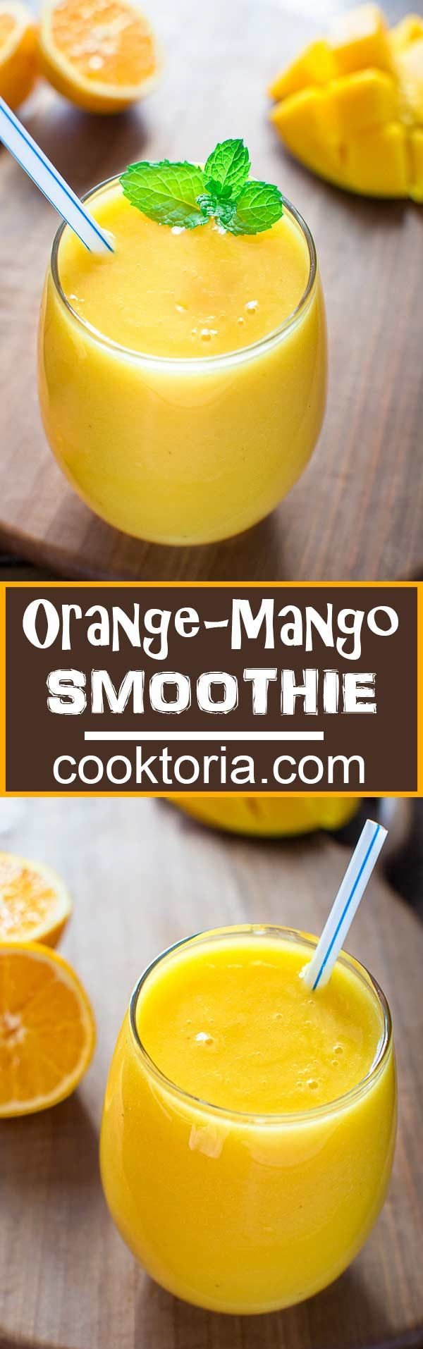 Quick, healthy and dairy-free, this Orange Mango smoothie will become your…