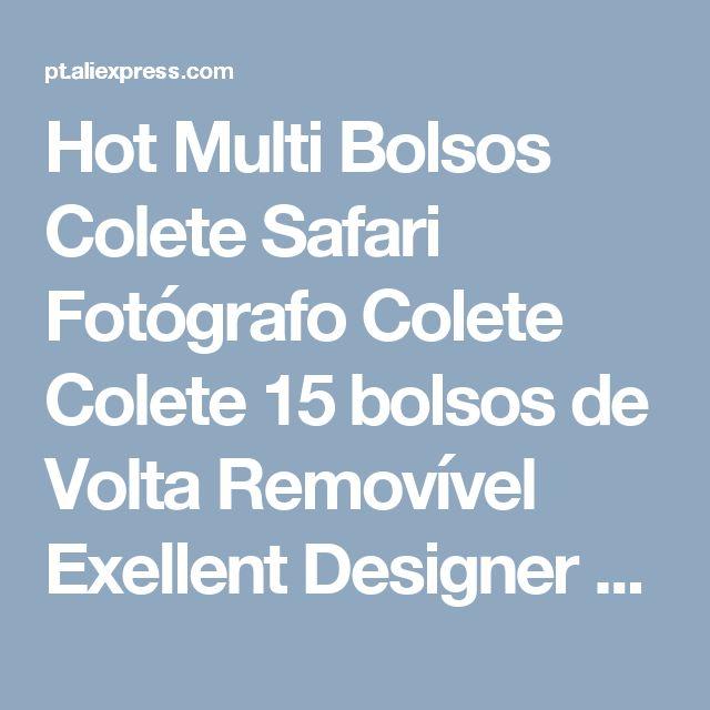 Hot Multi Bolsos Colete Safari Fotógrafo Colete Colete 15 bolsos de Volta Removível Exellent Designer Frete GRÁTIS em Coletes & Coletes de Dos homens de Roupas & Acessórios no AliExpress.com | Alibaba Group