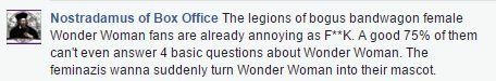 This was a comment I saw on a Wonder Woman FB page...see Lewis's Law and the cover of the first MS. Magazine #feministicon #lewislaw