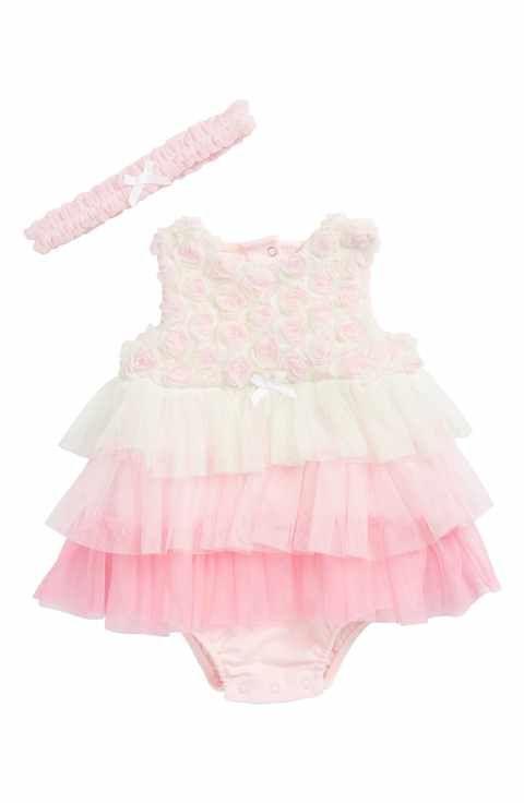 19e70f6b5a67 Little Me Rosette Popover Bodysuit   Head Wrap Set (Baby Girls ...