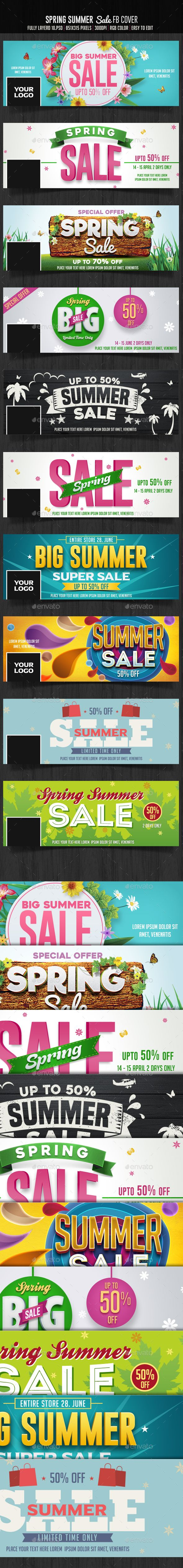 10 Spring Summer Sale Facebook Cover