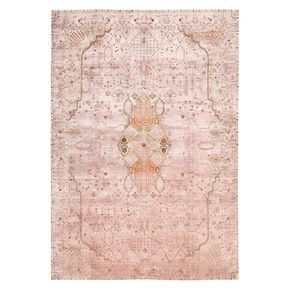 This one-of-a-kind silk rug in soft blush and ochre is handwoven in India using handspun silk and then overdyed to create a remarkable chromatic composition. A unique oxidation process recreates the timeworn beauty of antique carpets, adhering to the wool foundation while leaving the silk threads untouched – transforming the motifs with an exquisitely tactile and distinctive hi-low effect. Vibrant and vivid in its luminosity, each Color Reform Silk piece transforms new, luxurious silk rugs…