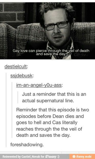 Foreshadowing? Or just yet another thing that the fandom reads too far into.