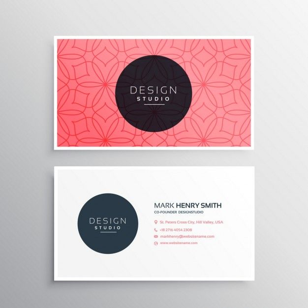 Image result for red business card