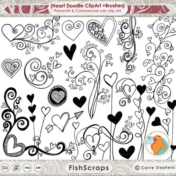 Hey, I found this really awesome Etsy listing at https://www.etsy.com/listing/120087326/heart-doodle-clip-art-photoshop-brushes