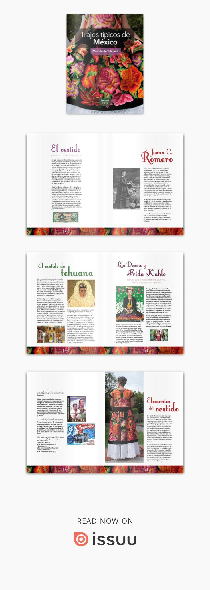 Issuu is a digital publishing platform that makes it simple to publish magazines, catalogs, newspapers, books, and more online. Easily share your publications and get them in front of Issuu's millions of monthly readers. Title: Vestido de tehuana, Author: Suzy B. González, Name: Vestido de tehuana, Length: 23 pages, Page: 1, Published: 2015-03-27