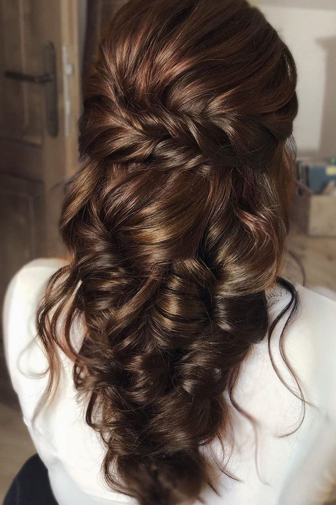 45 Half Up Half Down Wedding Hairstyles Ideas Wedding Forward In 2020 Hair Styles Greek Hair Long Hair Styles