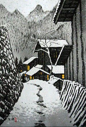 A vintage japanese shin hanga woodblock print by kasamatsu shiro from the