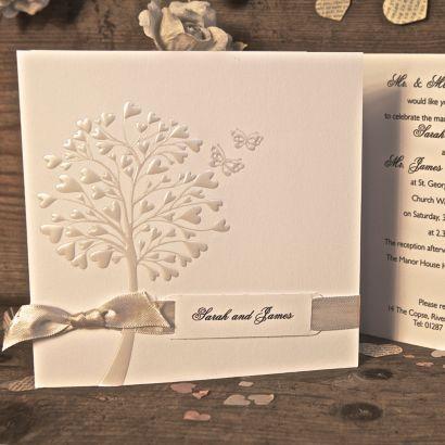 Pure Day Invitation   Wedding Stationery