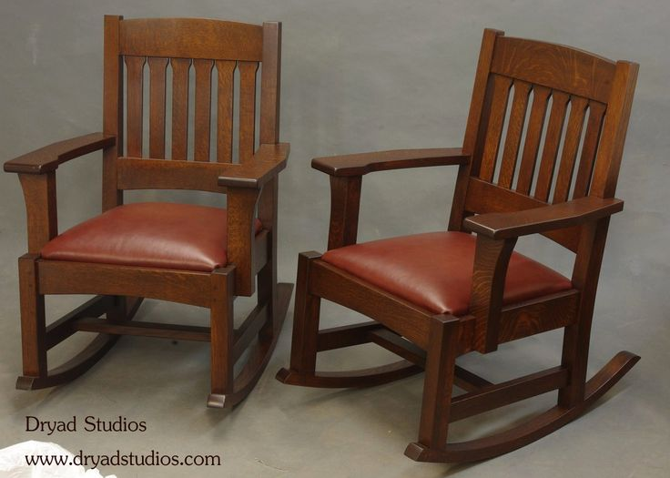Stickley- Mission- Arts & Crafts style rocking chairs by Dryad Studios ...