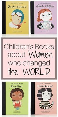Children's Books about Women who changed the WORLD!  Little Readers will delight in these amazing real life stories of courage, bravery, and strength! Rosa Parks, Coco Chanel, Audrey Hepburn, Emmeline Pankhurst, Amelia Earhart, and more! - children's book