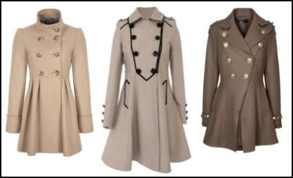 That one in the middle though <3 Like the one on the left too. --Fuller Skirted Women's Coats.