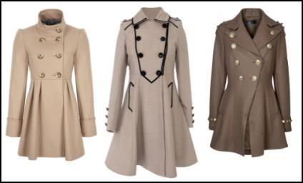 Fuller Skirted Women's Coats. Want them all...