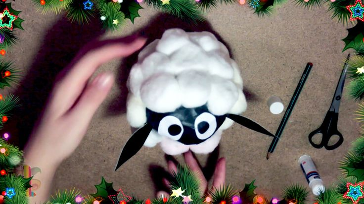 Всем привет! В этом видео мы решили показать как сделать овечку  своими руками!