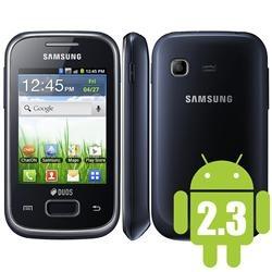 Samsung Galaxy Pocket Duos Preto S5302, 3G, GPS, Wi-Fi, Android 2.3, Processador 832 Mhz, Câmera 2.0MP, Fone de Ouvido, Memória Interna 3GB