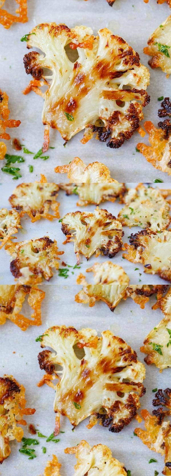 Parmesan Roasted Cauliflower – best cauliflower ever, baked in oven with butter, olive oil and Parmesan cheese. A perfect side dish   http://rasamalaysia.com