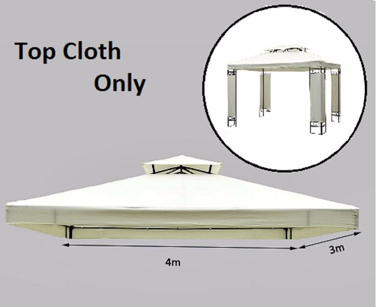 Gazebo Replacement Canopy Roof Top Cover Tent 2 Tier 3x4m Metal  Patio Pavilion #Unbranded