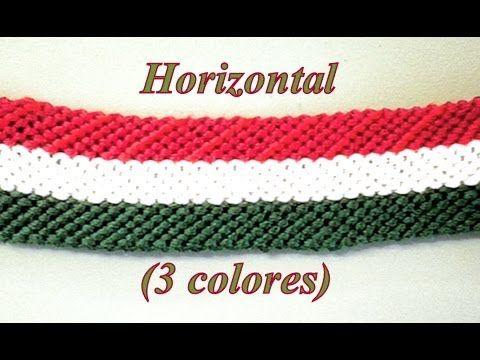 Pulsera de Hilo: Horizontal Tres Colores - YouTube