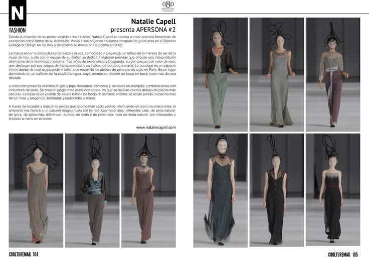 Our runway in Coolture Magazine...  www.nataliecapell.com